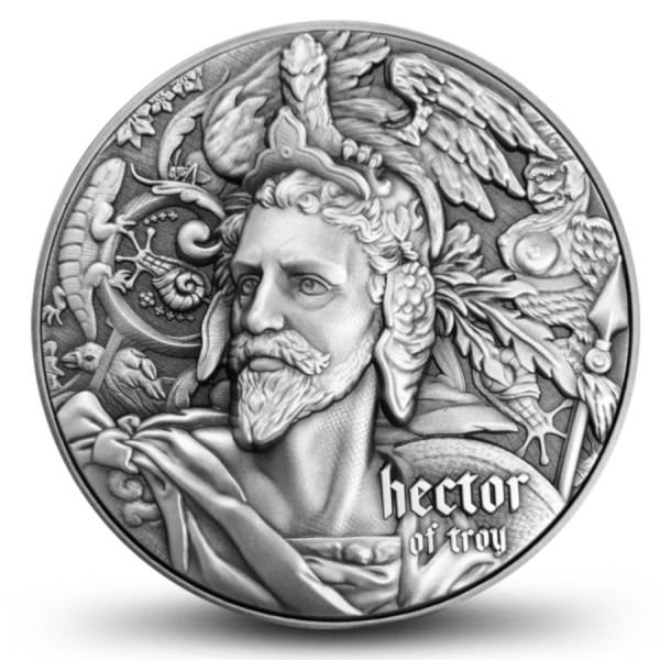 """Niue - 5 Dollar 2020 The """"Nine Worthies"""" Series - """"Hector of Troy"""" - 2 oz - Silver"""