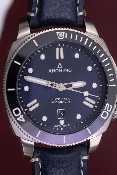 """Anonimo - Automatic Diver Watch Nautilo Navy Blue Stainless Steel FREE Shipping - AM-1002.09.006.A03 """"NO RESERVE PRICE"""" - Hombre - BRAND NEW"""