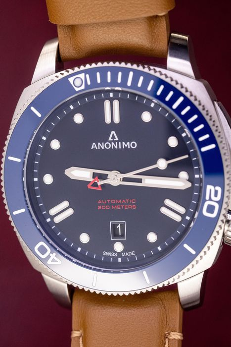 Anonimo - Automatic Nautilo Bronze Blue Stainless Steel - AM-1002.06.004.A06 - Homme - BRAND NEW