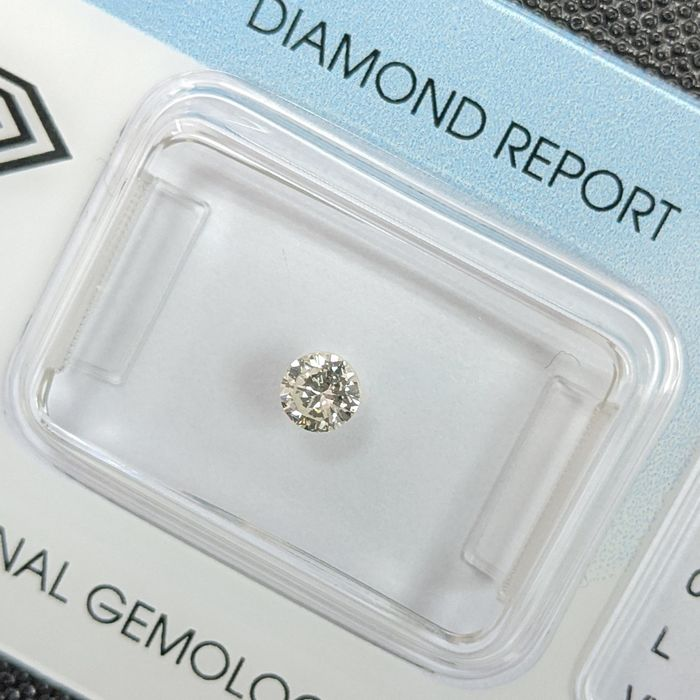 Diamant - 0.21 ct - Briljant - L - VVS2, IGI Antwerp - No Reserve Price