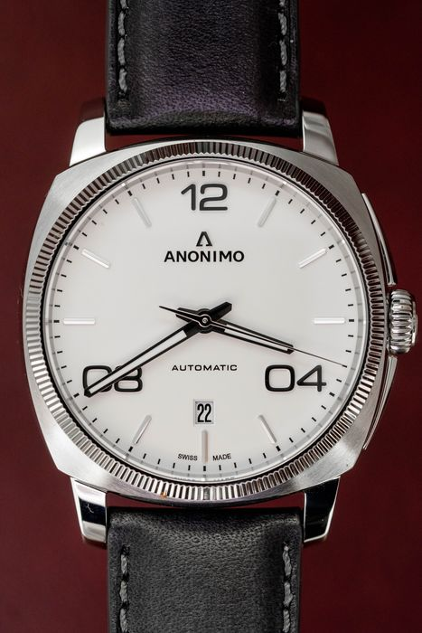 Anonimo - Automatic Epurato Steel White with Hand Made Italian Leather Strap - AM-4000.01.100.W11 - Herren - BRAND NEW