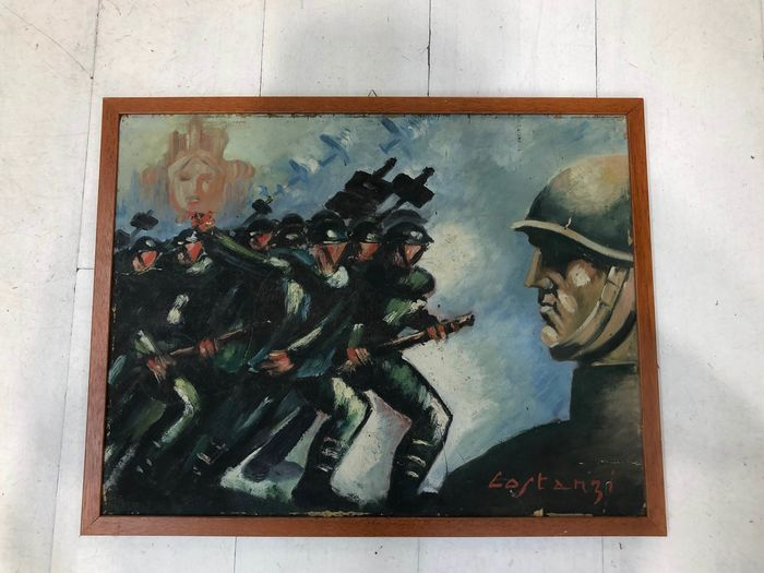 Italy - Fascism - 1930s oil painting by the painter Lastanzi