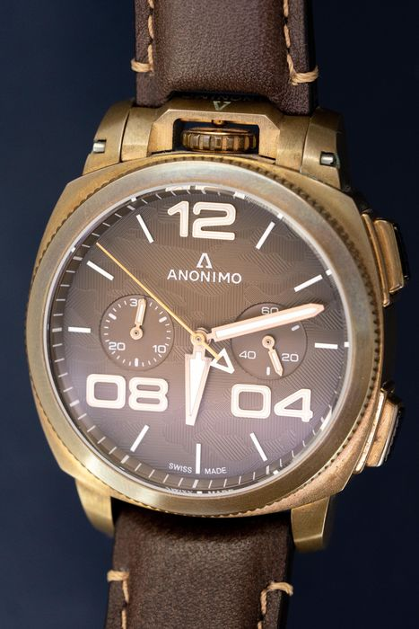 Anonimo - Automatic Militare Chrono Bronze Brown LIMITED EDITION  of 97 - AM-1123.01.001.A04 - Herren - BRAND NEW