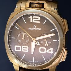 Anonimo - Automatic Militare Chrono Bronze Brown LIMITED EDITION  of 97 - AM-1123.01.001.A04 - Homme - BRAND NEW