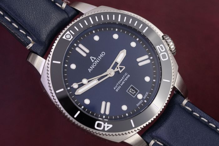 Anonimo - Automatic Diver Watch Nautilo Navy Blue Stainless Steel FREE Shipping - AM-1002.09.006.A03 - Uomo - BRAND NEW