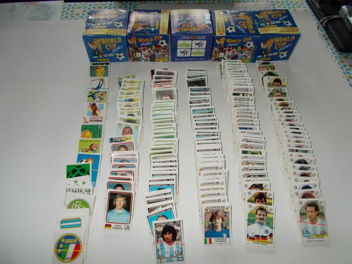 Panini - Word Cup Story - 4287 (!) Original loose stickers + 5 empty boxes - 1990