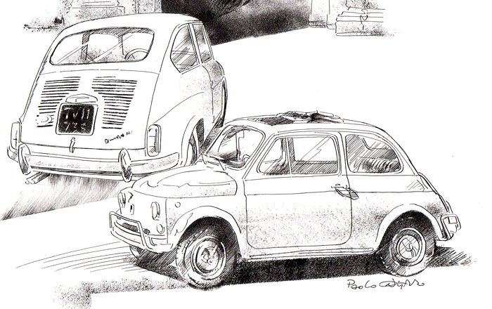 numbered lithographs - Fiat