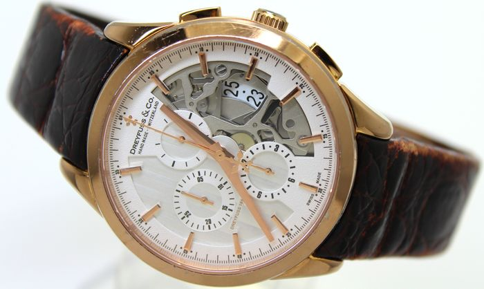 """Dreyfuss & Co. - 1925 Half Skeleton Automatic Chronograph  Swiss Made """"NO RESERVE PRICE"""" - Limited Edition - Herren - 2011-heute"""