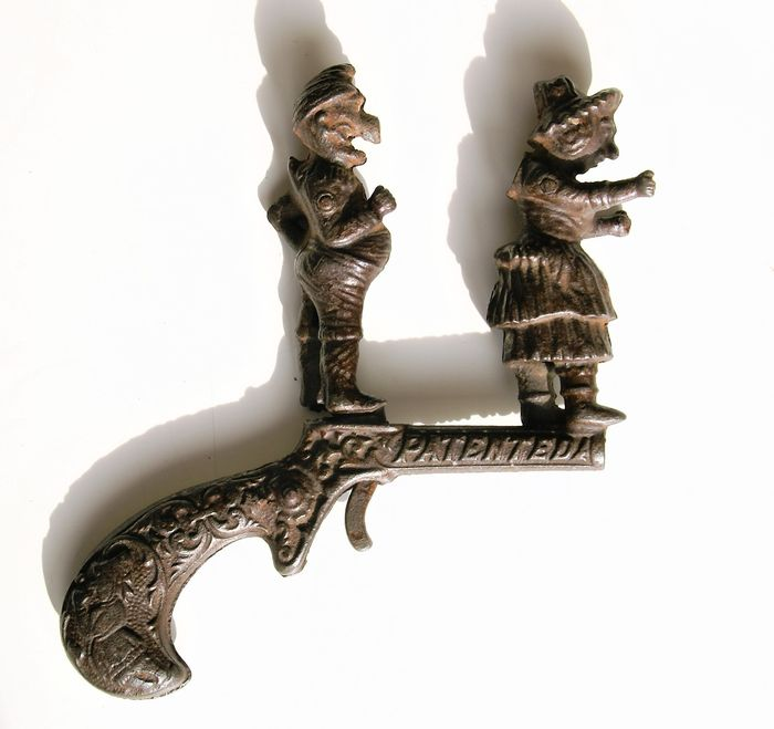 Ives and Blakeslee, - C. 1880s Ives Cast Iron Punch & Judy Animated Cap Gun Punch and Judy - 1880-1889 - U.S.