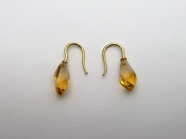 18 kt. Yellow gold - Earrings Citrine