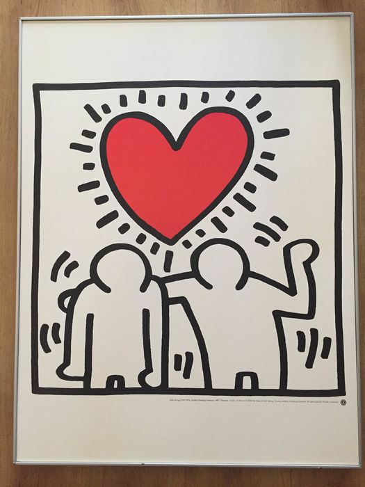 Keith Haring (after) - Untitled (Wedding invitation), 1987