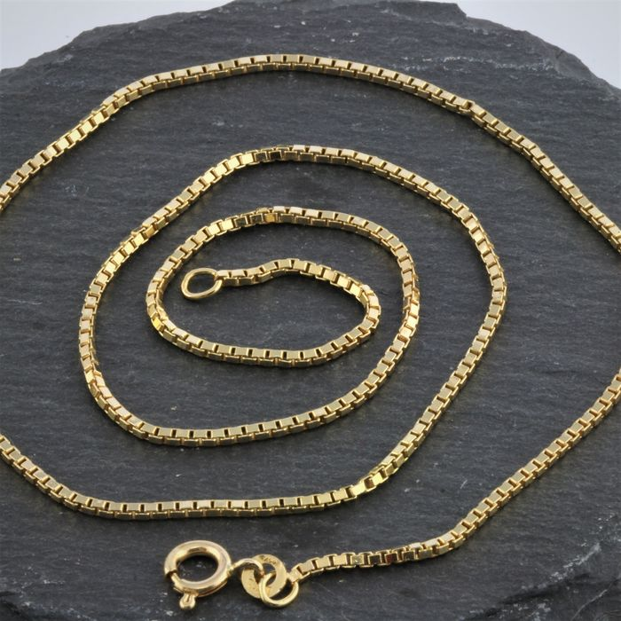 18 kt. Gold, Yellow gold - Necklace, 750 Gold Italy - Venetian chain 50 cm