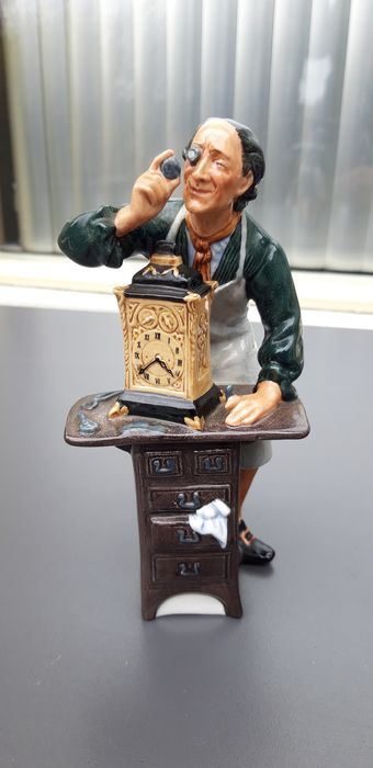 Royal Doulton HN 2279 The Clockmaker Porcelain Figurine Designed by M Nicoll