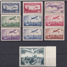 Frankrijk 1930/1947 - Very fine group of airmail stamps - Yvert entre PA 5 & 20