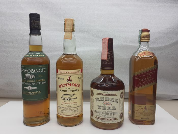 Benmore - Johnnie Walker - Glenmorangie Madeira Wood - Rebel Yell  - 750ml - 4 bouteilles