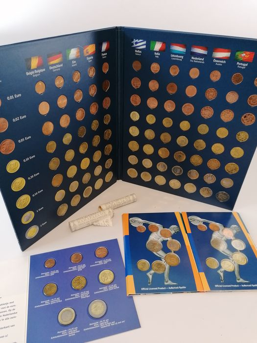 Europe - Euro sets & Finland 2 cents coin roll