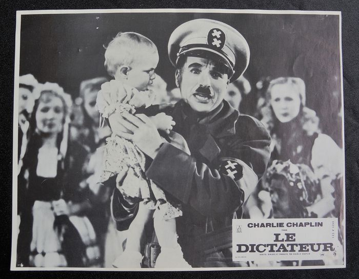 The Great Dictator - Charles Chaplin - Póster, Set of 4 - Vintage - French release