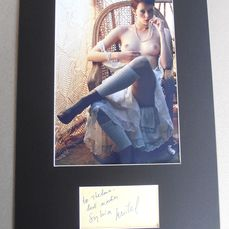 Emmanuelle  - Sylvia Kristel - Autograph, Photogrph, Dedicated Card , Mounted , COA from UACC & AFTAL