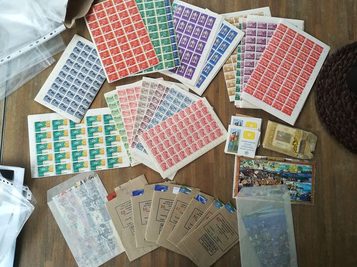 Indonesia - Batch with sheets, sheet parts and blocks
