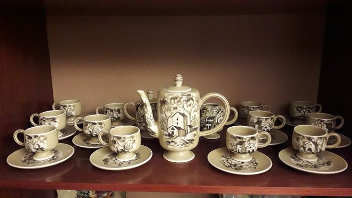 E.Sora - Ceramiche Pesaro - Coffee set for 12