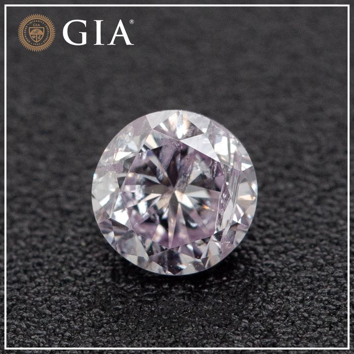 Diamond - 0.34 ct - Brilliant - light pink - GIA - No Reserve Price