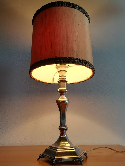 Table lamp (1) - .800 silver - Italy - Second half 20th century