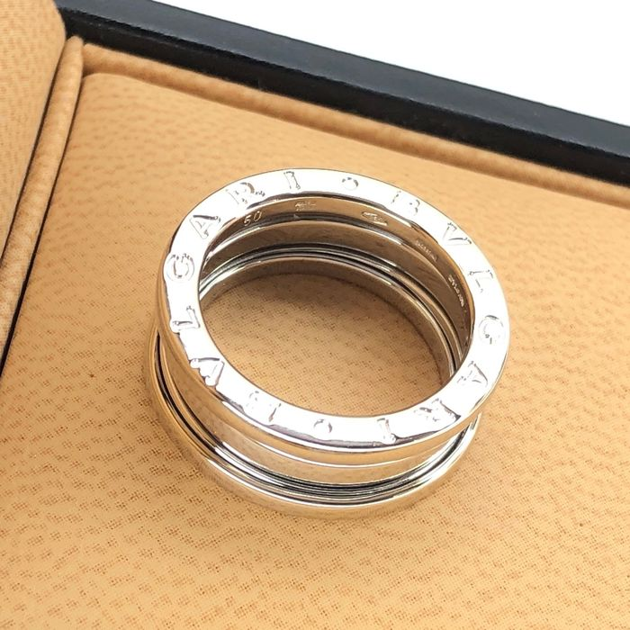 Bvlgari B. Zero 1 Collection - 3 Band, Big Size 50 (EU) - 18 kt. White gold - Ring