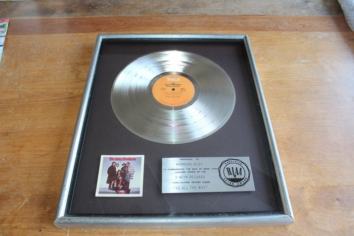 Isley Brothers - Go All The Way.. Presented To Rudolph Isley - Official RIAA award - 1980/1980