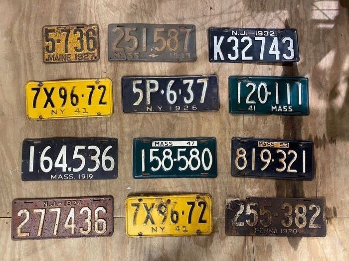Number plate - USA nummerplaten - USA licence plates 1919-1953 - 1910-1920