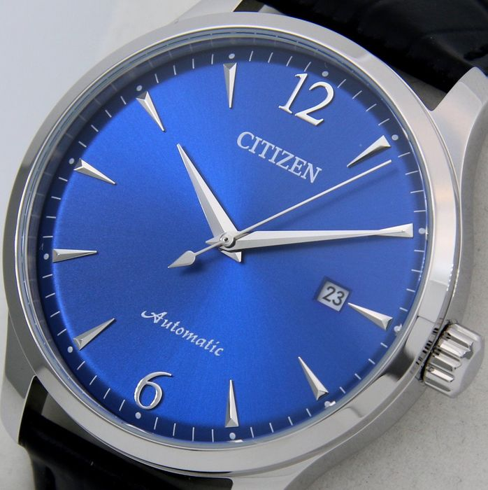 """Citizen - Automatic """"Blue Dial"""" Leather band - - """"NO RESERVE PRICE"""" - - Men - 2019"""