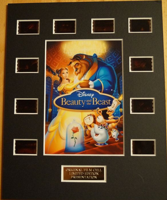 Walt Disney - Beauty and the Beast - 35mm Film cell Display limited edtion with COA