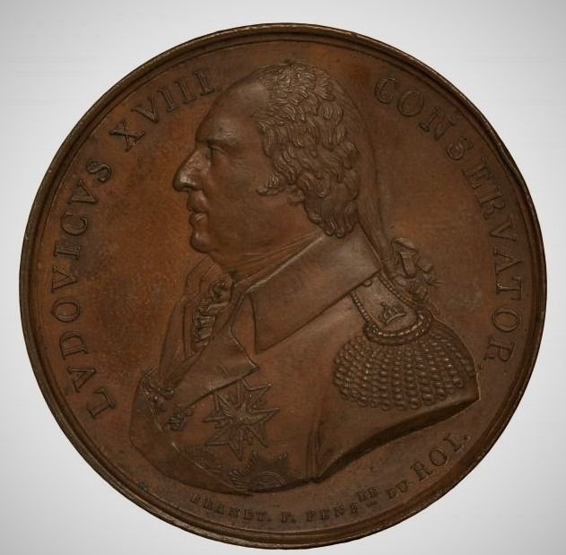 """Frankrijk - Medal """"Louis XVIII - The French Academy in Rome"""" 1815 - Brons"""