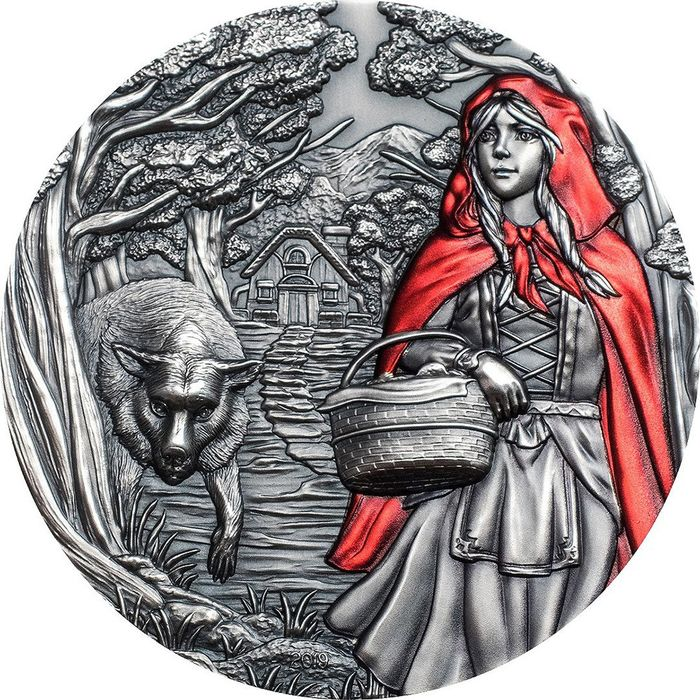 "Cook Islands. 20 Dollars - 2019 - ""LITTLE RED RIDING HOOD"" - Cappuccetto Rosso - Fairy Tales Fables - 3 Oz"