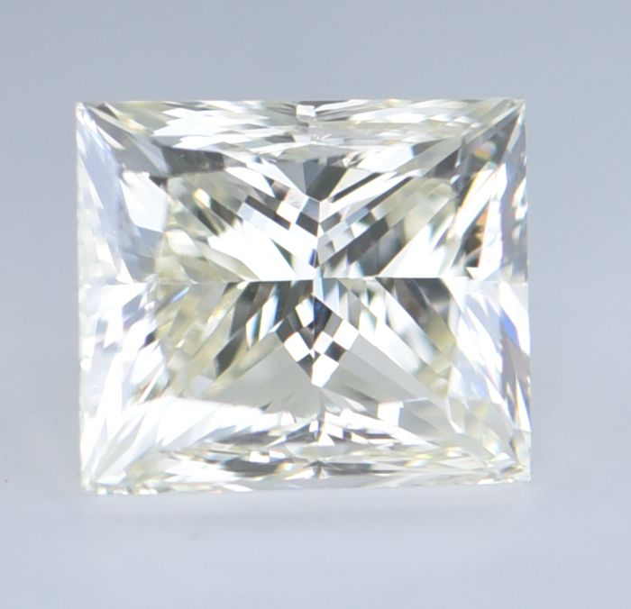 1 pcs Diamante - 1.18 ct - Princesa - N (coloreado) - VS2, GIA