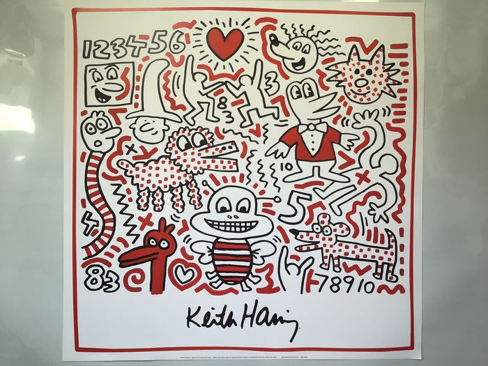 Keith Haring (after)  - untitled - 1990 - 1990-tallet