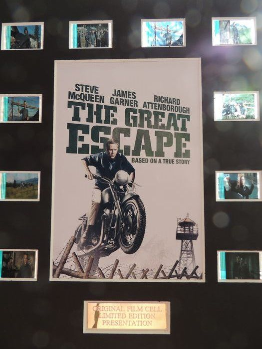 Steve McQueen - The Great Escape  - Film Cell Display