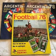 Panini - WC Argentina 78 + Football 76 - Album complet + 2 albums incomplets