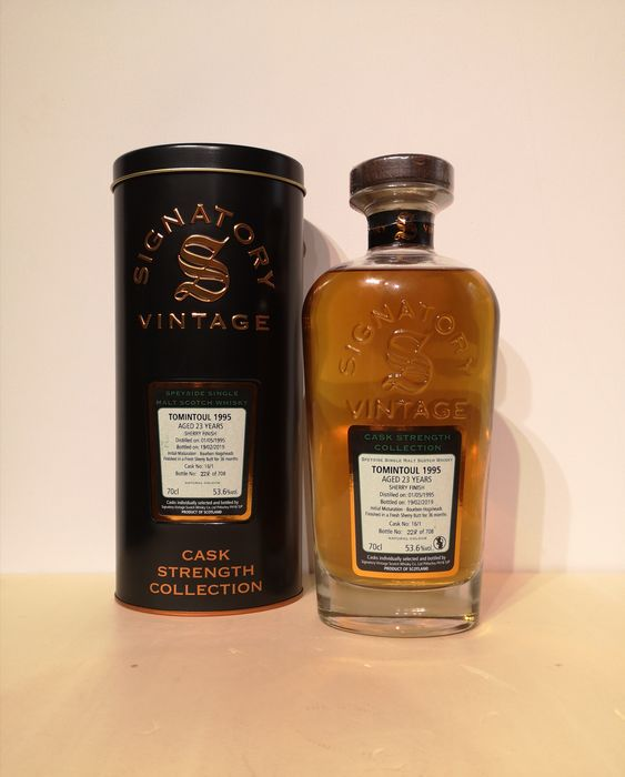 Tomintoul 1995 23 years old Cask Strength - Cask 16/1 - Signatory Vintage - b. 2019 - 70 cl