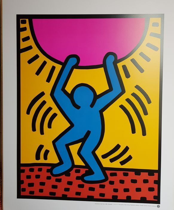 Keith Haring (after) - International Youth Year - 1985