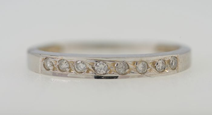 NO RESERVE PRICE - 18 quilates Oro blanco - Anillo - 0.30 ct Diamante