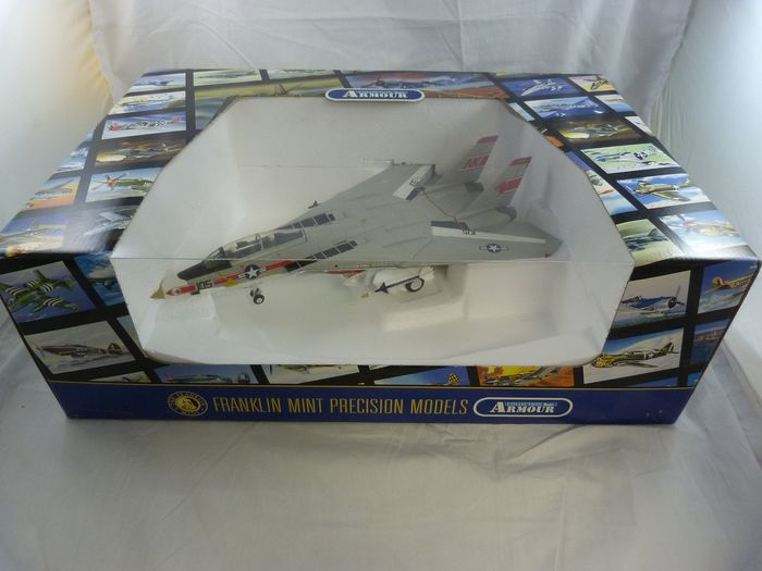 Franklin Mint, Precision Models - Collection Armour - maßstabgetreues Modell, Tomcat F14 USS Enterprise - Metall