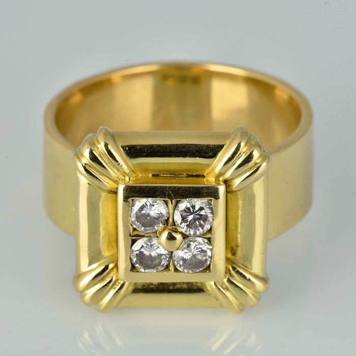 18 quilates Oro - Anillo - 0.22 ct Diamante