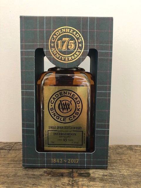 Invergordon 1973 43 years old 175th anniversary - Cadenhead's - b. 2017 - 70 cl