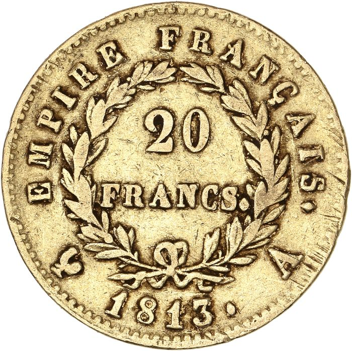 20 Francs 1813-A Napoléon I - Or