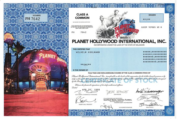 Documento, Planet Hollywood (1) - Papel