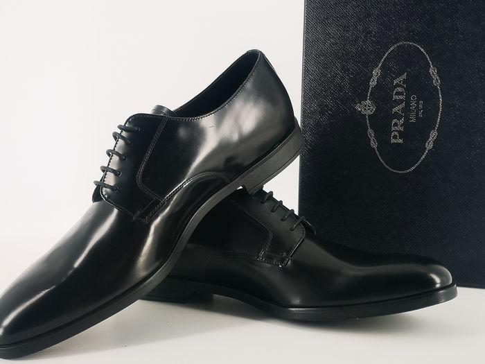 Prada - Spazzolato fumè Veterschoenen - Maat: IT 45, UK 11