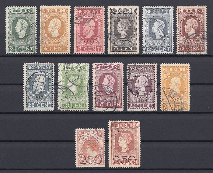 Netherlands 1913/1920 - Independence and Clearance issue - NVPH 90/100 + 104/105