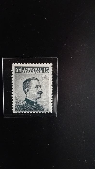 Italy 1909 - Kingdom of Italy - regular mail - Michetti typographical - 15 cents grey - Sassone 86