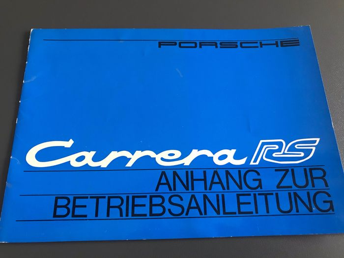 Brochures / Catalogues - Porsche 911 2.7 Carrera RS anhang zur betriebsanleitung supplement - Porsche - 1970-1980