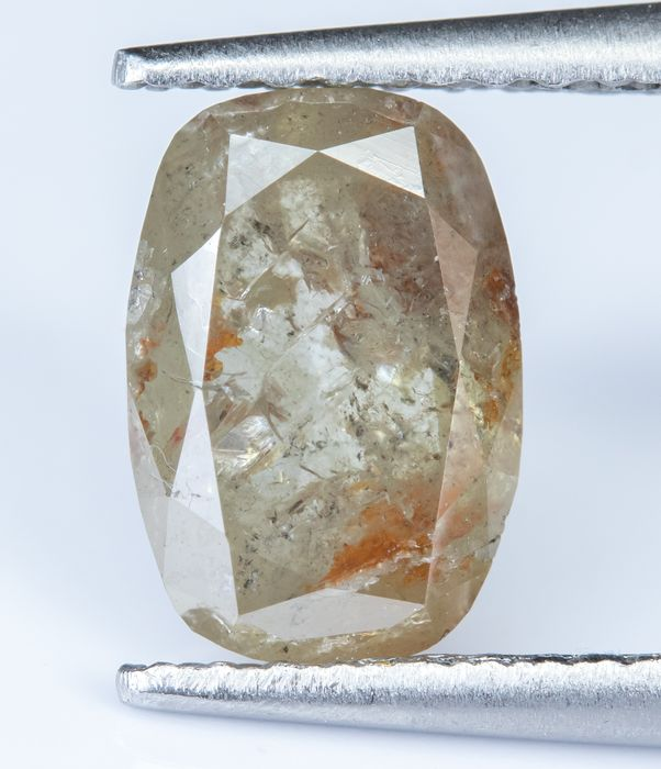 Diamante - 1.70 ct - Gris anaranjado - I2  *NO RESERVE*